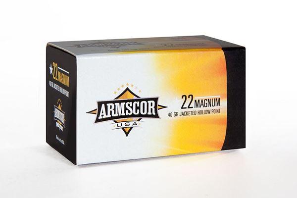 Armscor USA Ammo .22 Mag 40gr JHP - 50 Rounds