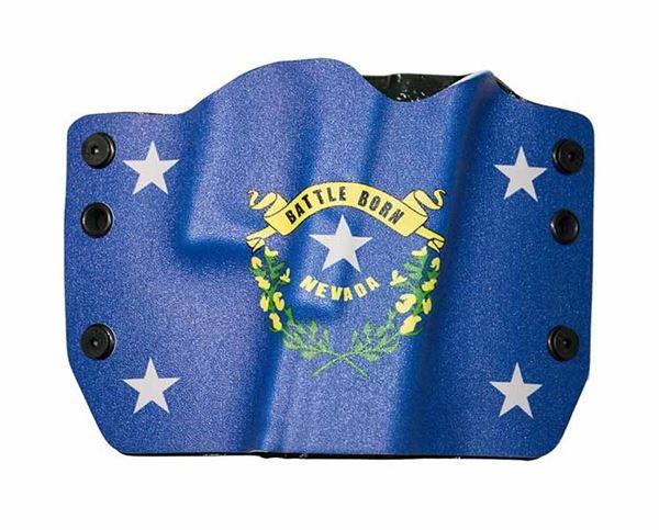 Bullseye Holster OWB RH GLOCK - Nevada Flag