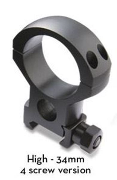 Burris Optics Xtreme Tactical 34 mm Riflescope Rings, Fits Picatinny-Style Rail, XHigh, 1 inch Height, 2 Rings, Matte Black