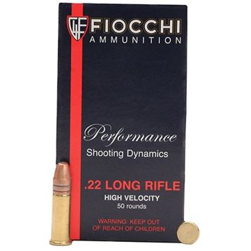 Fiocchi  22FHVCHP .22 Long Rifle Copper-Plated Hollow Point 40 Grain - 50 Rounds