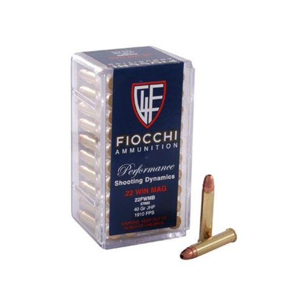 Fiocchi .22 Win Mag 40 Grain JHP (Box of 50)