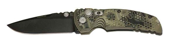 Hogue EX-01 3.5 inch Folder Drop Point Blade, Cerakote G10 Frame Tread, G-Mascus Green