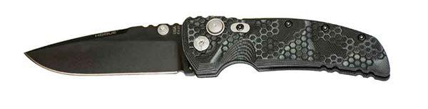 Hogue EX-01 3.5 inch Folder Drop Point Blade, Cerakote G10 Frame Tread, G-Mascus Black