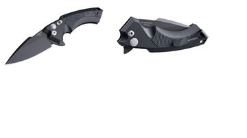 Hogue X5 3.5 inch Folder CPM154 Spear Point Blade Black Finish - Black Aluminum Frame G-Mascus Black G10 Insert