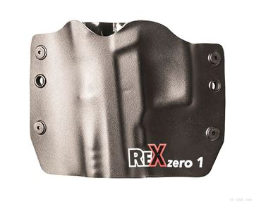 Rex Zero1S Holster (OWB, Black, Logo, Kydex, Left Hand)