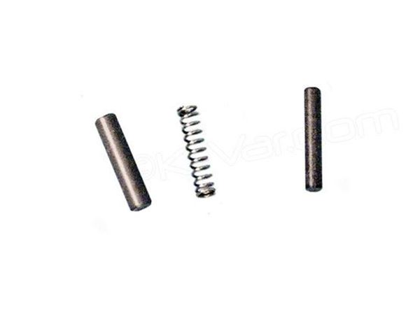Plunger Pin Set CR Spring for Plunger, and Retainer for the Spring for the CR Type Front Sight / Gas Block