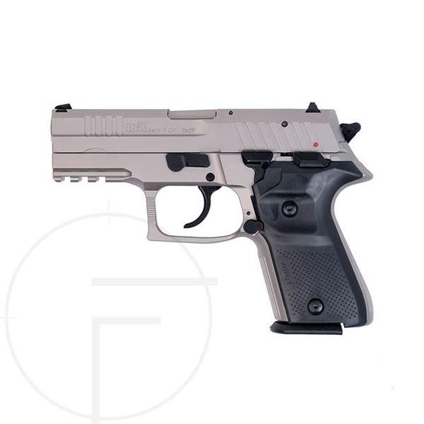 Rex Zero 1CP 9mm Black Polymer Grip Nickel Frame/Slide