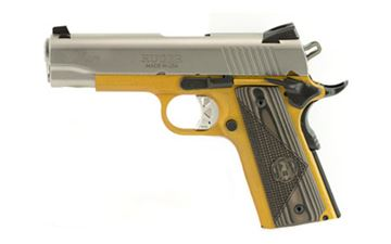 """RUGER SR1911 45ACP 4.25"""" STS/GOLD 7R"""