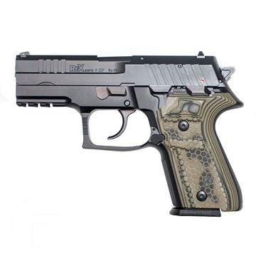 Rex Zero 1CP Blk 15rnd 9mm Green Grips