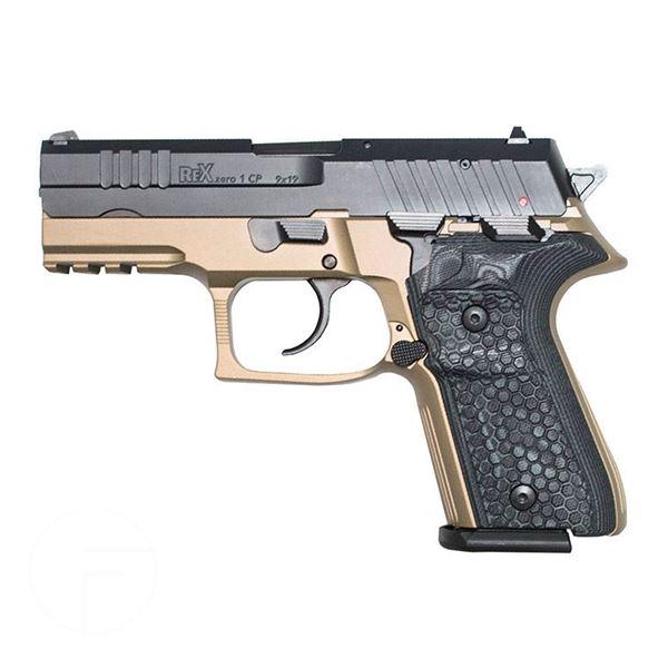 Rex Zero 1CP FDE 15rnd 9mm Blk Grips