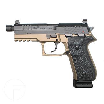 Rex Zero 1 Tactical  FDE Black Hogue Grips