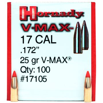 Picture of 17 Cal .172 25gr V-MAX /100