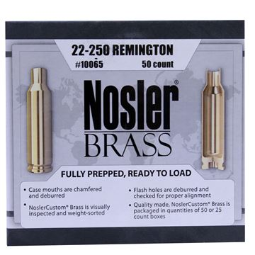 Picture of 22-250 Remington Brass (50 ct)