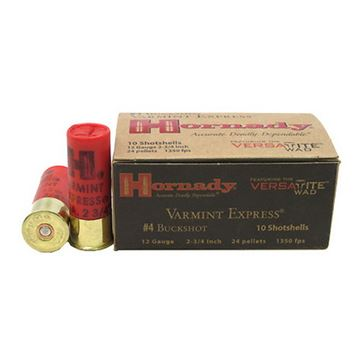 Ammo 12 Ga #4 Buckshot Varmint Express/10