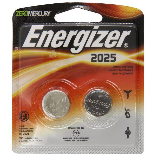 Lithium Coin #2025 3Volt (2-pack)