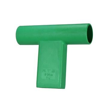 """Picture of """"T"""" Connector for Round Target Pole - GN"""