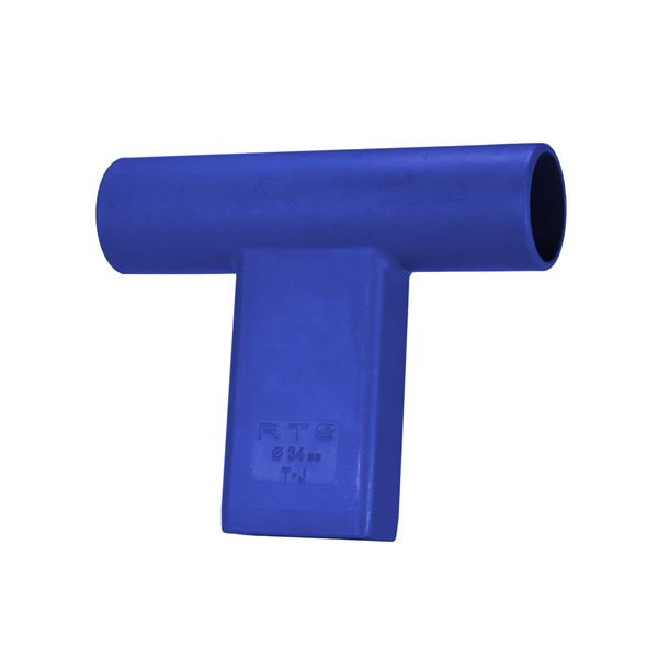 """T"" Connector for Round Target Pole-Blue"