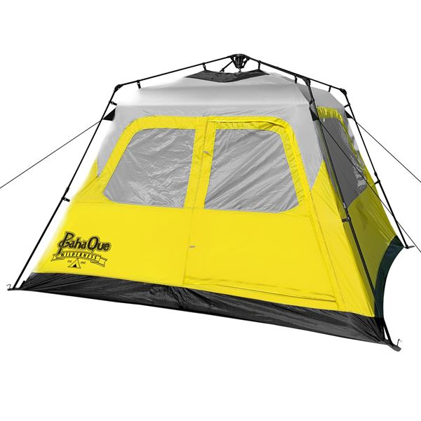 Basecamp Quick Pitch Tent Grey/Ylw 6p
