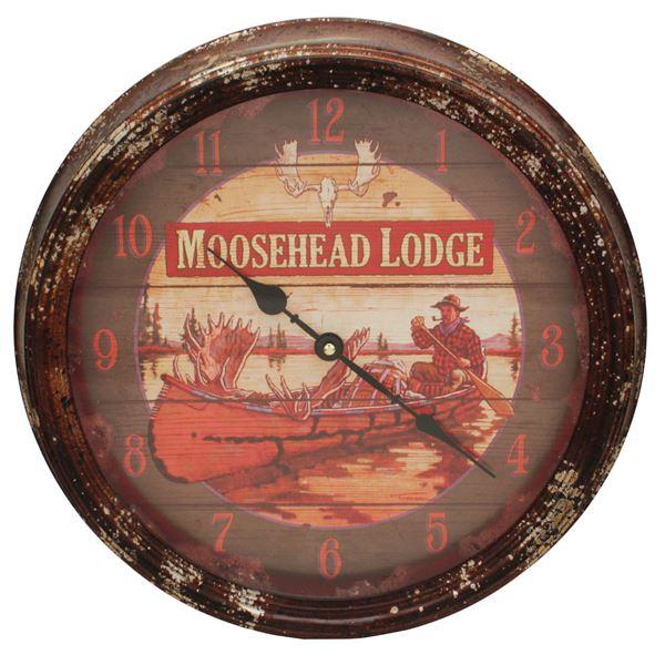 Moosehead Metal Clock 15