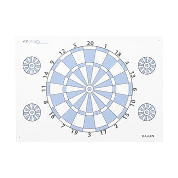 Dartboard Paper Target W/ Pins,