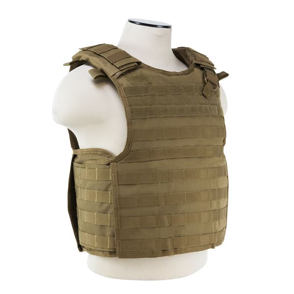 Quick Release Plate Carrier Vest - Tan
