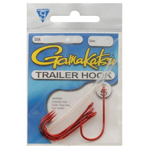 Trailer Hook Red 3/0, 5 Hooks P/P