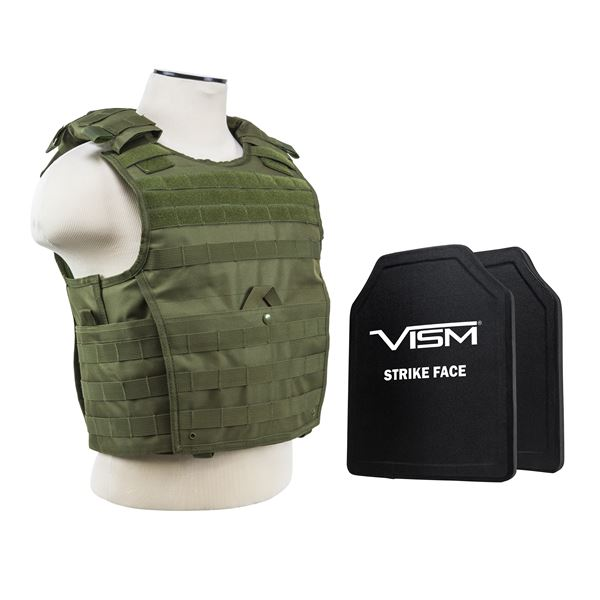 """Expert Carrier Vest/Two 10""""X12""""/Grn"""