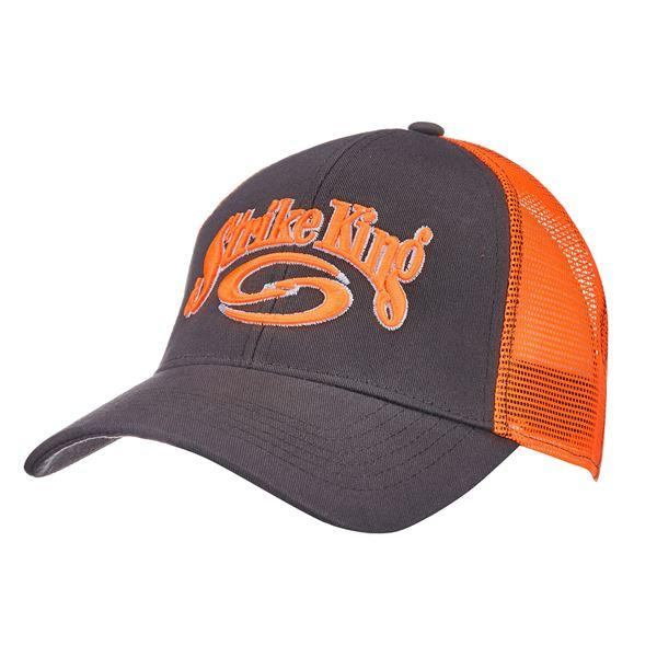Trucker Cap,Charcoal body/Orange mesh