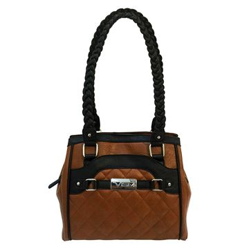Picture of Concealed Carry Braided Tote- Brn W/ Blk