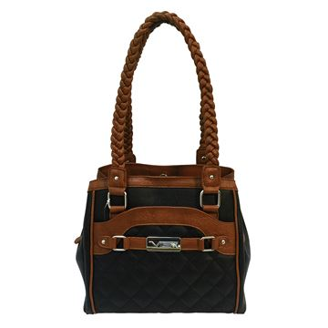 Picture of Concealed Carry Braided Tote- Blk W/Brn