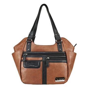 Picture of Concealed Carry  Hobo Bag Large-Brn w/blk