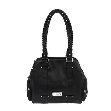 Picture of Concealed Carry Braided Shldr Bag- Blk