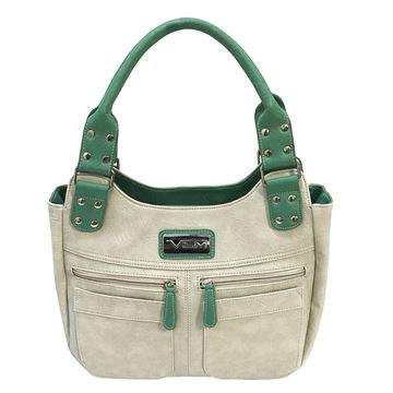 Picture of Concealed Carry Hobo Bag-Off Wht/Seafoam