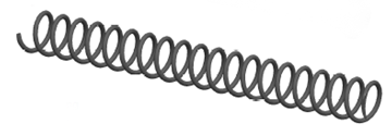 Heavy Steel recoil spring for the compact model