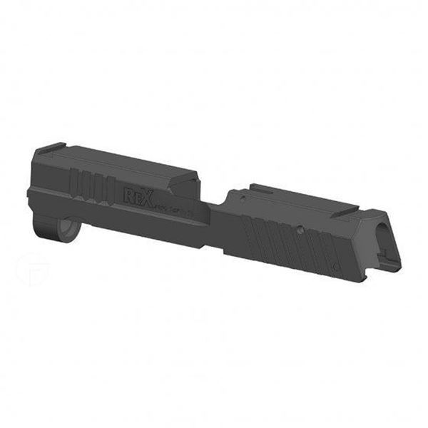 """Slide for the 9mm Compact RexZero1 series pistols with the 3.85"""" barrel"""