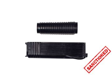 Handguard set, upper and lower, Vepr 12,  black polymer