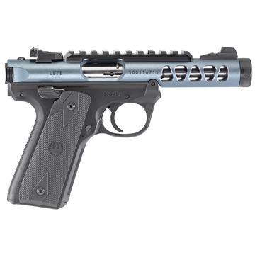 "Ruger Mark IV, Lite, 22/45, Semi-auto Pistol, 22LR, 4.4"" Threaded Barrel, Polymer Frame, Diamond Gray Finish, Checkered Grips, 10Rd, Adjustable Rear Sight"