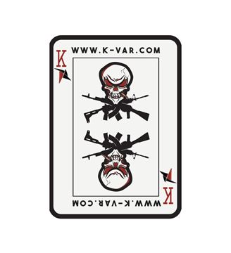 K-Var PVC Velcro KVAR Playing Card with Skull Patch