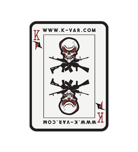 K-Var PVC Velcro KVAR Playing Card with Skull Patch