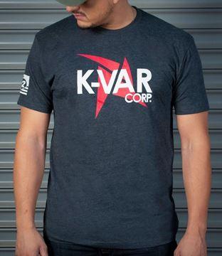 K-Var T-Shirt Charcoal premium fitted CVC Crew