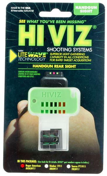 HIVIZ RGALW11  RUG AMER REAR SIGHT GRW