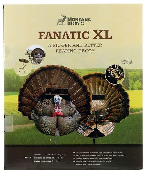 MONTANA DECOY 0071 FANATIC XL W/TURKEY FOOT BASE