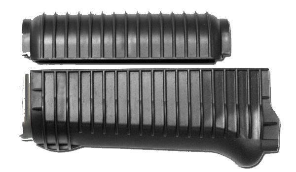 Brand new US made black color ribbed Krinkov handguard set for milled receivers.