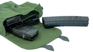 Pouch for 4 5.56 magazines and oil bottle, canvas, green, Arsenal Bulgaria