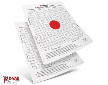Precision Type Targets for the Elevation Wrench - Front Sight Post Adjustment Tool. A pack of 10 targets for AK-102/4/5 Rifles 18-METER ZEROING TARGET