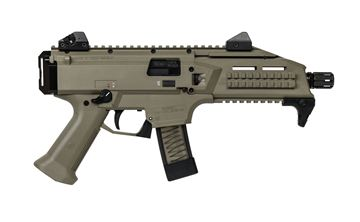 "CZ SCORPION EVO 3 S1 9 mm Pistol 7.72"" Barrel threaded 1/2X28 FDE"