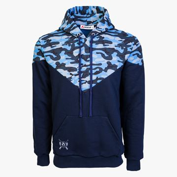 Picture of Arsenal Blue Camo Cotton-Poly Relaxed Fit Ascend Pullover Hoodie