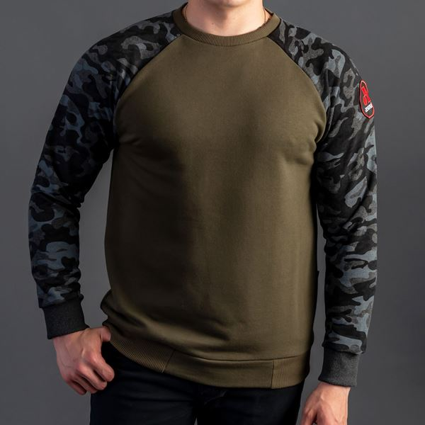 Picture of Arsenal Black Camo Cotton-Poly Standard Fit Pullover Sweater