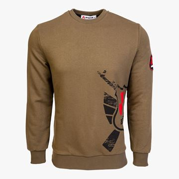 Picture of Arsenal Khaki Cotton-Poly Standard Fit Alpha Pullover Sweater