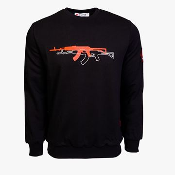 Picture of Arsenal Black Cotton-Poly Standard Fit Graphic Pullover Sweater